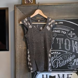 "Free people fitted ""grunge"" tee"